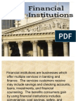 Lecture 1 Financial Institutions #