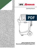 Robinair Recharge User Manual