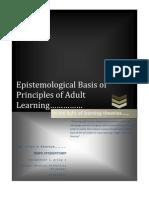 Epistemological Basis of Adult Learning Principles--TimerLane's Second Attempt
