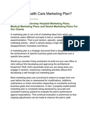 What is a Health Care Marketing Plan | Swot Analysis