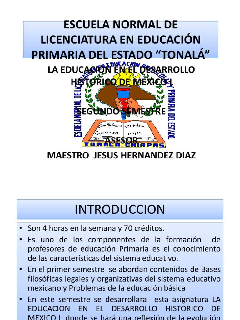 Diapositivas de La Educ. en El Desarr. Historico de Mexico i