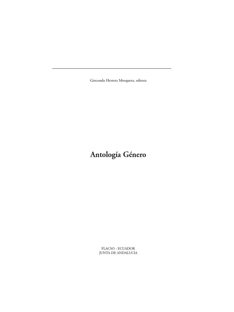 Antologia de genero en Ecuador
