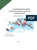 Analiza Instrumentelor de Politica Monetara in Noile Tari Membre Ale UE 1