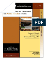 Jan 2012 Improving Efficiency and Effectiveness for Public Health Services