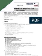 Gerenciamento de Projetos com MS Project - Gest+úo e RH