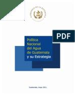 Política Nacional del Agua de Guatemala