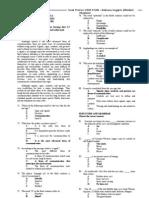 id Soal Pretes USM STAN - Bahasa Inggris (Bimbel Madani)