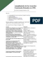 Anatomia y Cumplimiento de Los Acuerdos de Paz de Guatemala Firmados en 1996