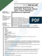 Nbr Iso 4287 - 2002 - Especificacoes Geometric As Do Produto (Gps) - Rugosidade Metodo Do Perfil -[1]