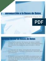 (Intro1) Introducción a la Bases de Datos