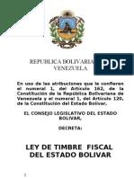 Ley de Timbre Fiscal Del Estado Bolivar-new