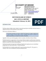 Denver Board of Ethics Annual Report 2011