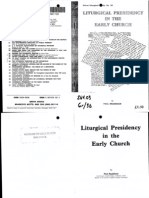 Bradshaw Liturgical Presidency in the Early Church