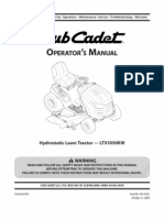 Owner's Manual Cub Cadet 1020