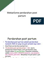 Mekanisme Perdarahan Post Partum
