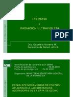 LEY 20.096 Presentacion Radiacion Ultraviolet A