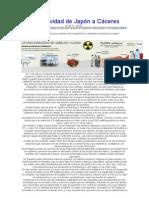 Radiactividad de Japón a España