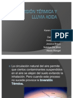 Inversion Termica y Lluvia Acida