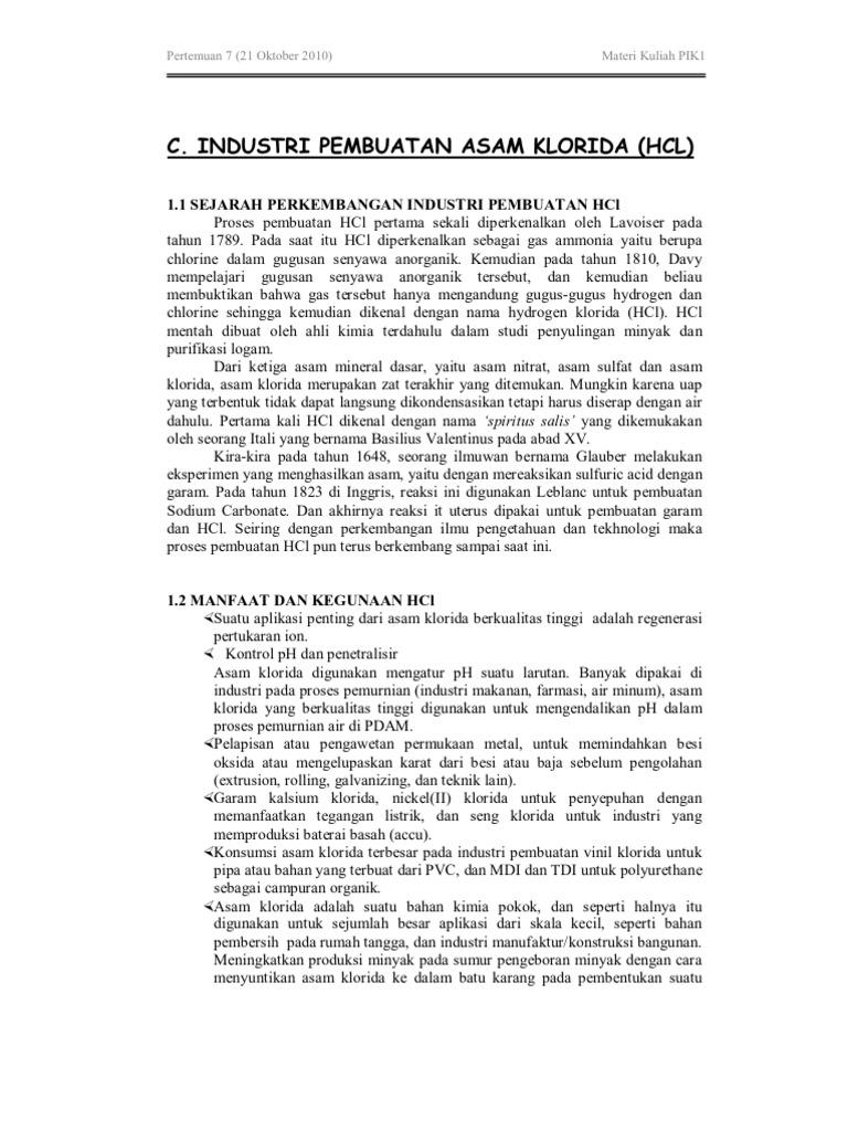 Pertemuan ke 7 industri pembuatan asam klorida ccuart Gallery
