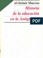 03Marrou La Antigua Educacion Ateniense