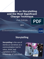 A Cameo on Storytelling and the Most Significant Change Technique