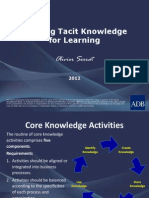 Eliciting Tacit Knowledge for Learning