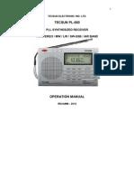 Manual Radio Tecsun PL 660