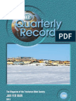 Quarterly Record Issue 598
