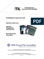 The ITIL Intermediate Qualification Service Transition Certificate v4.1