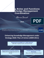 Advancing Roles and Functions for Knowledge Management Coordination
