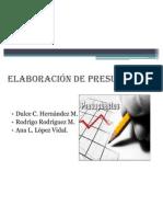 ELABORACIÓN DE PRESUPUESTOS