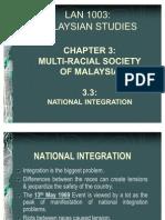 Chapter 3.3 - National Integration