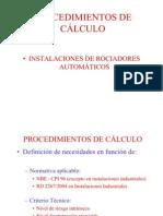 Procedimiento calculo rociadores