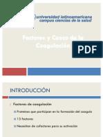 Cascada de La Coagulacion y Factores