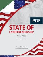Buld a Stronger America State of the Entrepreneurship 2010