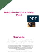 Medios de Prueba en El Proceso Penal