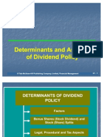 Determinants and Aspectsof Dividend Policy