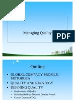 Managing Quality PPT @ BEC DOMS