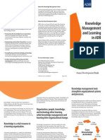 Knowledge Management and Learning in ADB