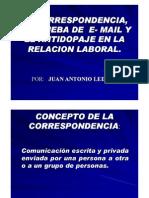 Las pruebas de E-mail, corespondencias y antidopaje en la relación laboral
