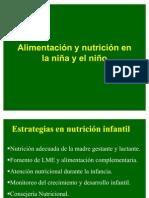 ALIMENTACION DE LA NIÑA Y NIÑO2011