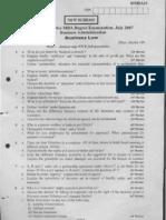 business law vtu question papersbl-jul-07