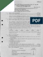 fianacial management vtu question papersfm-dec-jan-07-08