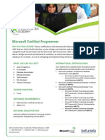 Microsoft Certified Programmer Entry L1