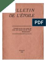 Bulletin de L'Étoile N°10 Juillet 1931 par J. Krishnamurti