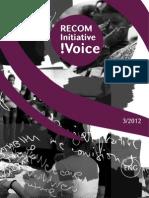 RECOM Initiative !Voice 3-2012