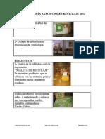 Folleto Guía Exposiciones de Reciclaje 2012