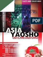 Asia Yaosho Catalog 2011-2012