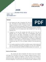 [2011.10.24] Consumer Price Index Sep11