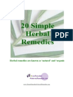 20 Simple Herbal Remedies